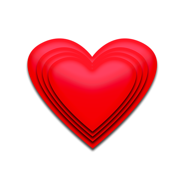 Red d image transparent. 3d heart png vector library download