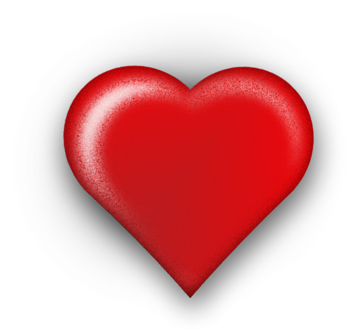 d. 3d heart png clip black and white library