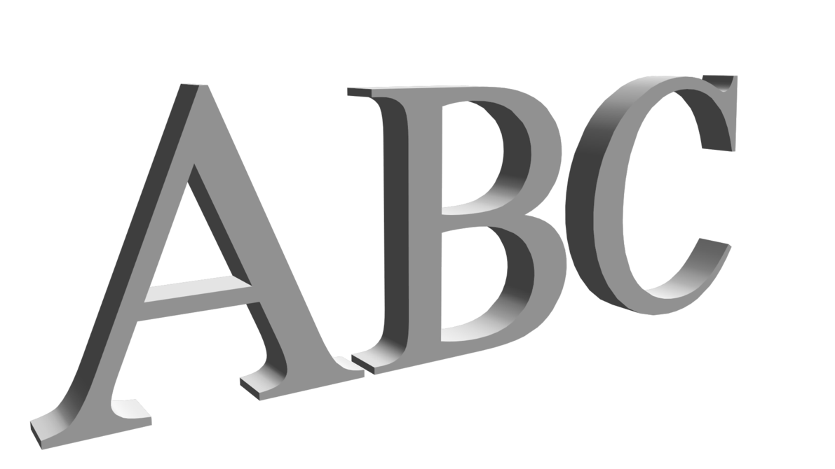3d letters png. Mmd d and numbers