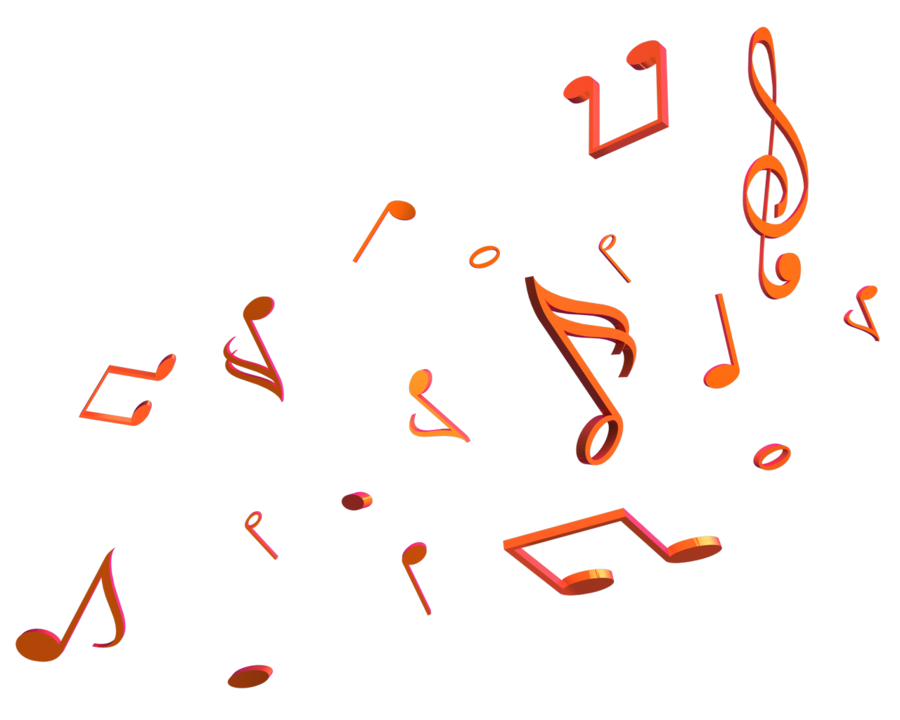 3d music note png. Notes render by taz