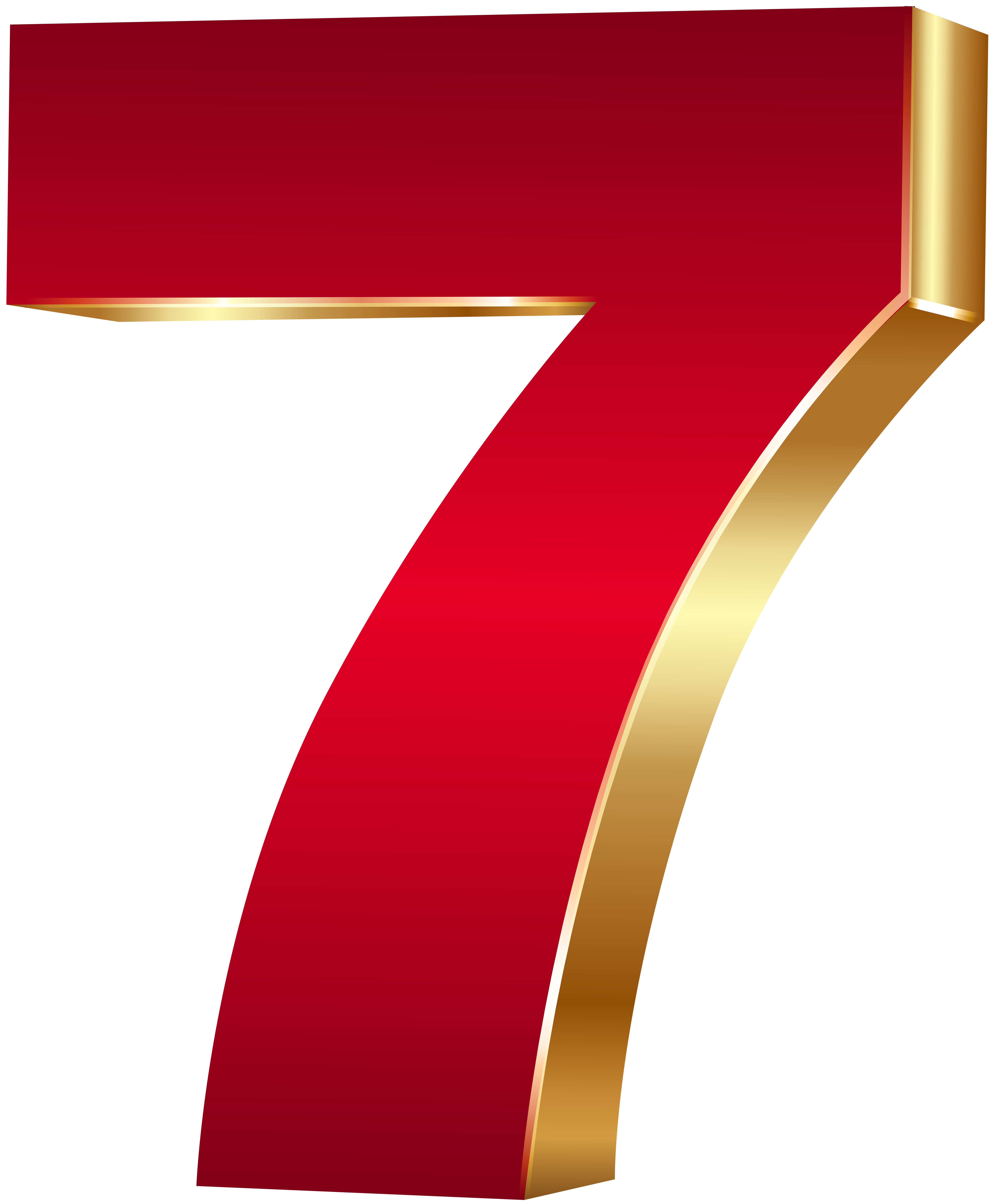 3d number and letters png. D seven red