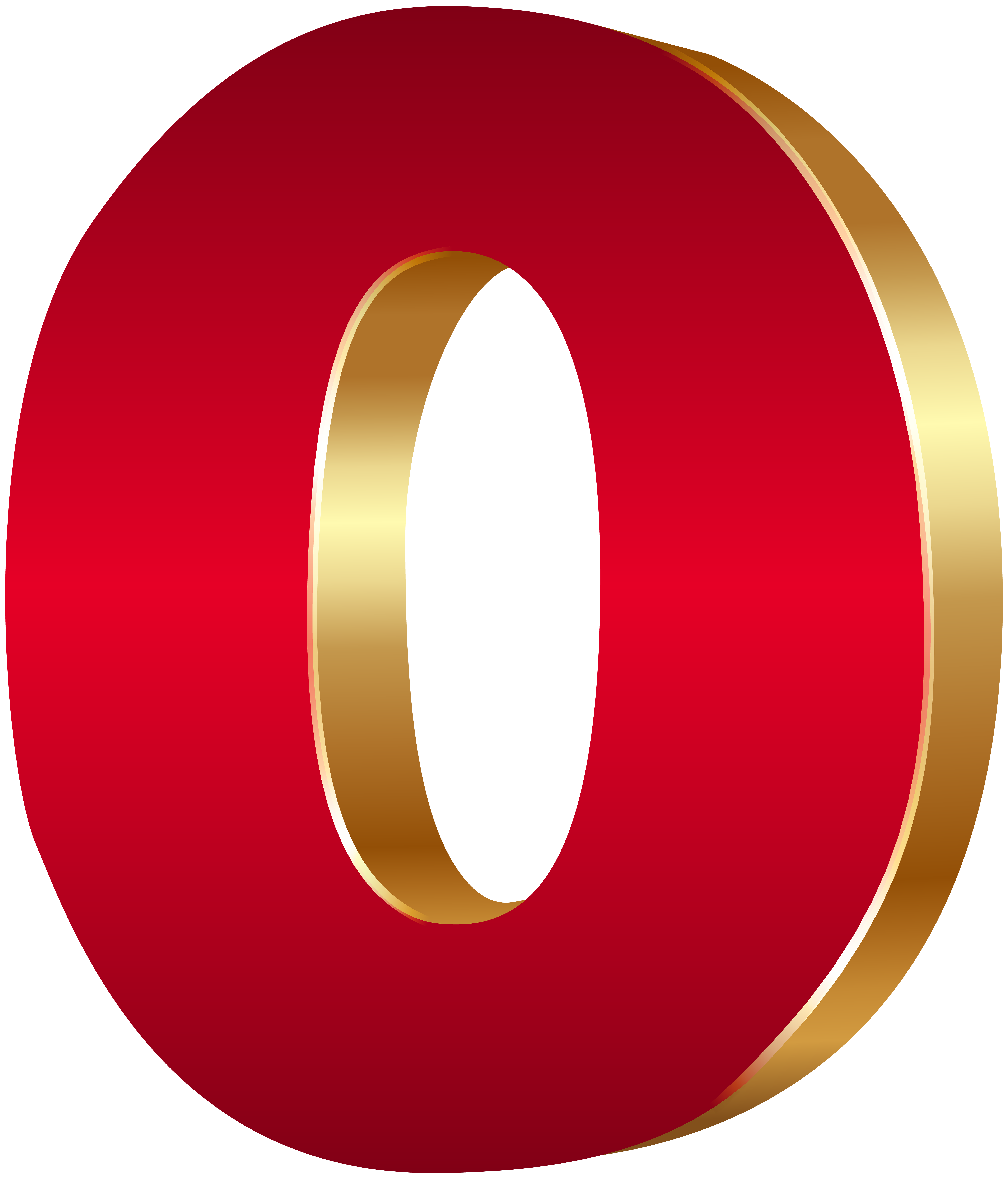 Zero transparent png.  d number red clip art free library