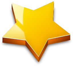 D star gold. 3d png effect image black and white download