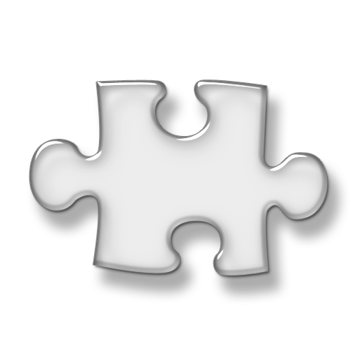 Puzzle transparent logo. Vector icon free icons