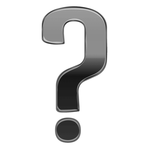3d question mark png. Gray gradient d transparent
