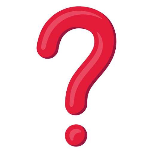 3d question mark png. Red d icon transparent