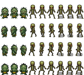 Zombie sprite png. And skeleton x opengameart