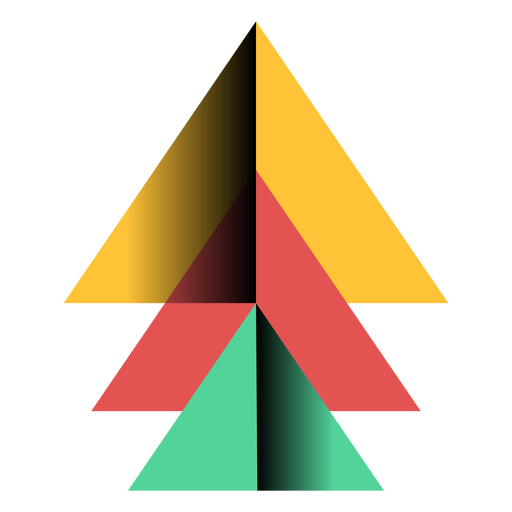 Transparent pyramid vector. Apex triangle d flat