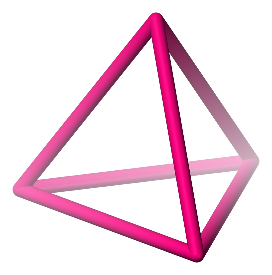 Transparent pyramid pink. Solved create d triangle
