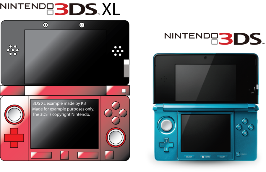 3ds drawing electronics. Ds xl example