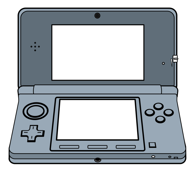 Electronics drawing gaming. Clipart handheld d game