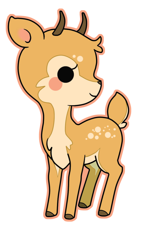 Raindeer drawing kawaii. Deer google search pinterest
