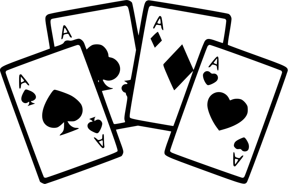4 aces png. Four cards poker game