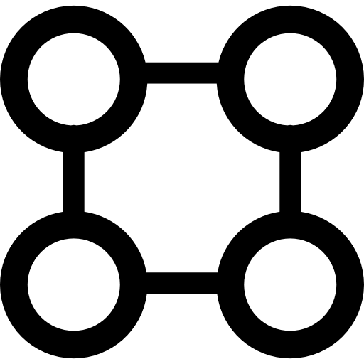 4 circles png. Square graphic of four