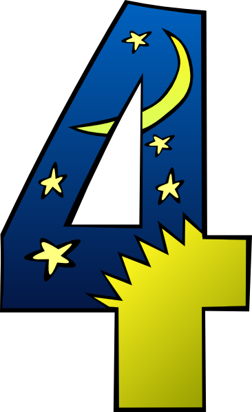 4 clipart. Number