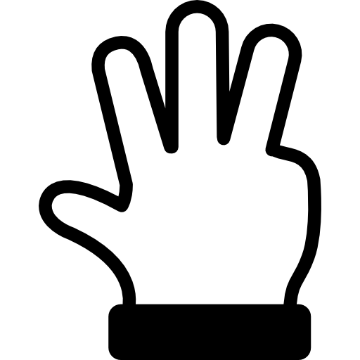 4 fingers png. Finger icon page svg