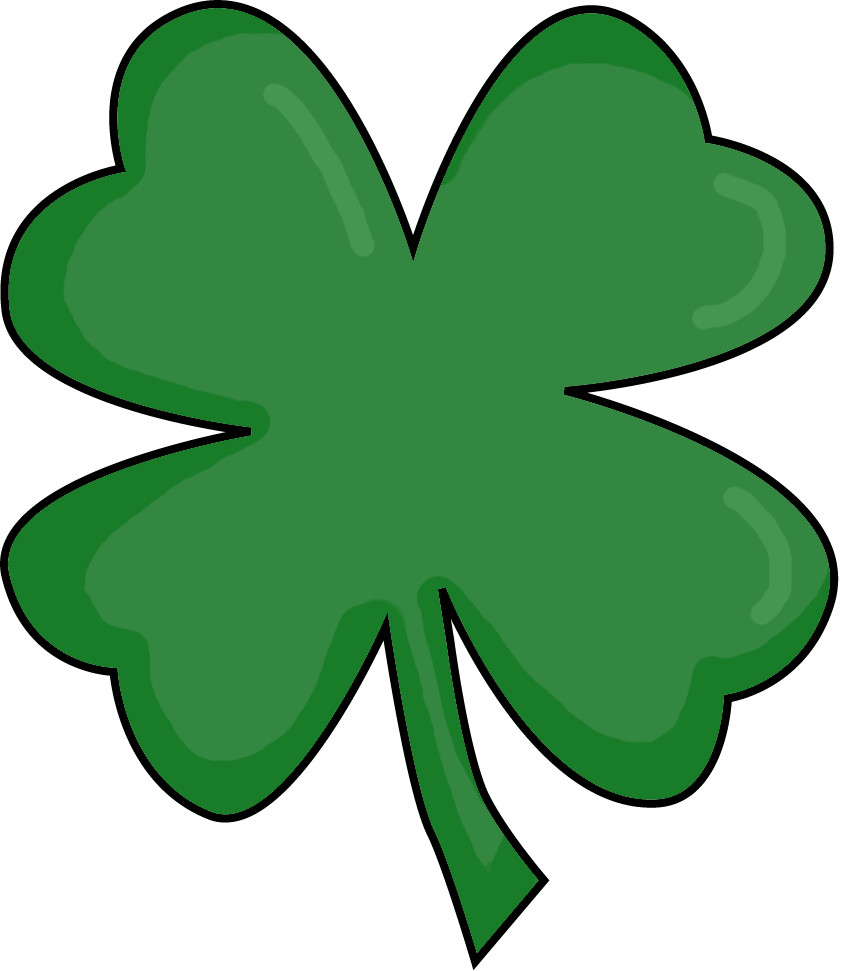 Vector clover march background. Leaf four clipart