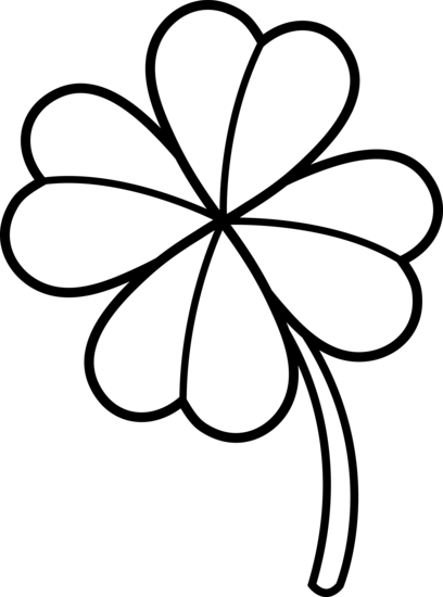 4 leaf clover outline png. Collection of four