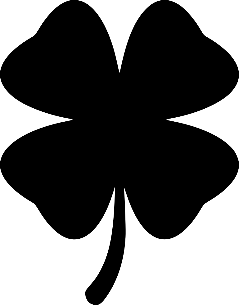 Vector clover stylized. Four leaf svg png