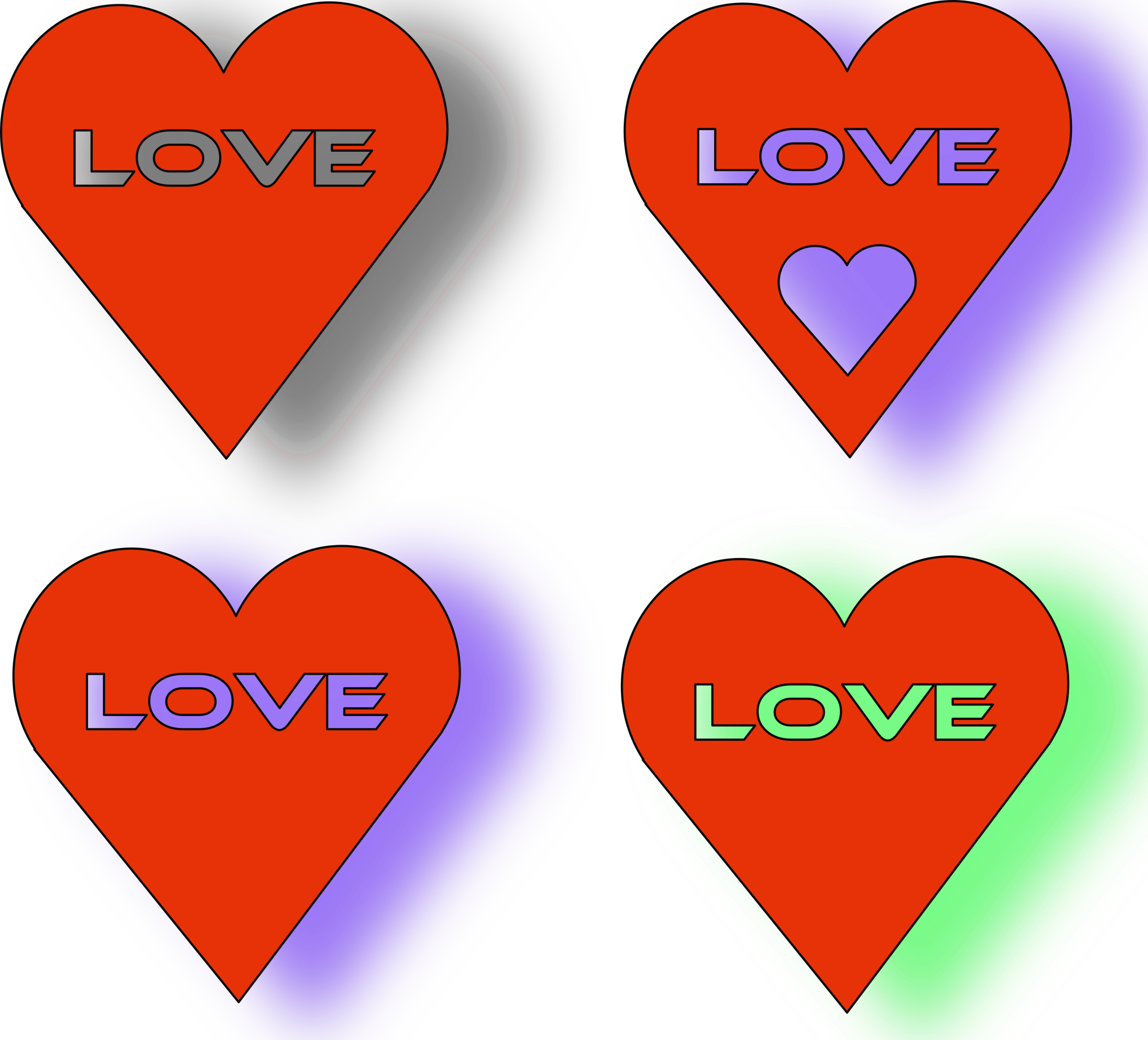 4 of hearts png. Clipart love heart s
