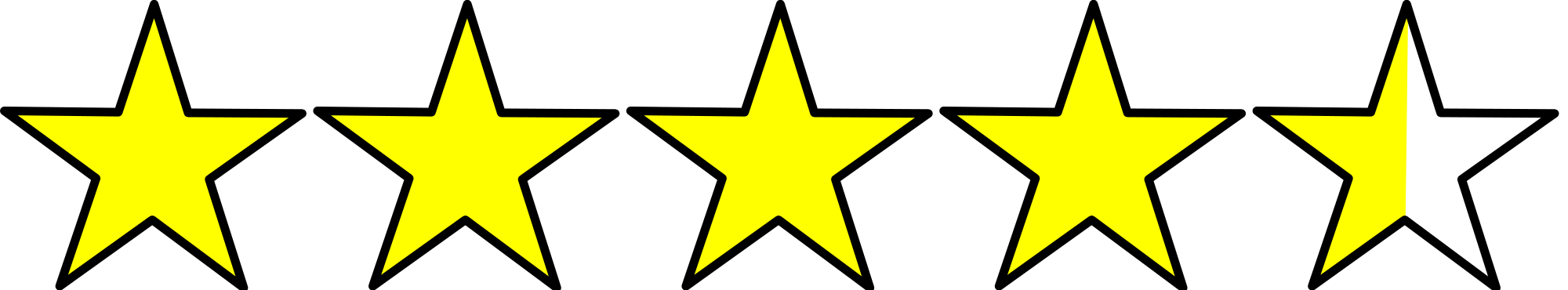 5 out of 5 stars png. File hvof svg wikimedia