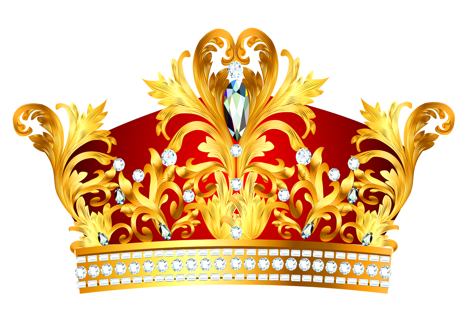 Transparent crowns royal