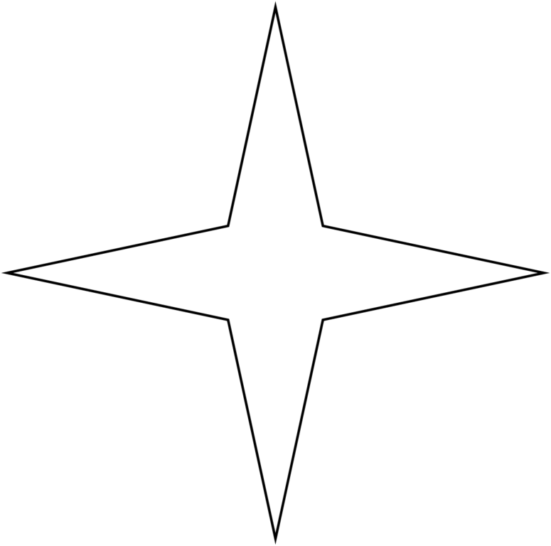 4 point star png