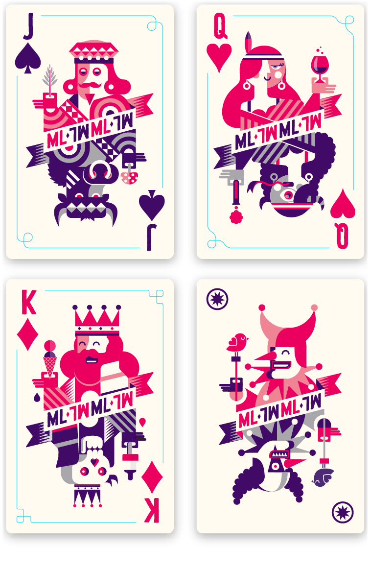 4 queen playing cards png. Mysteryland on behance