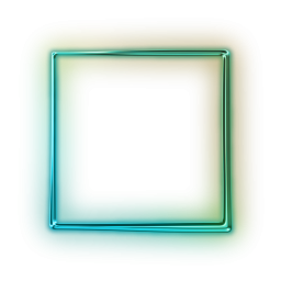 Neon square png. Shape transparent images pluspng