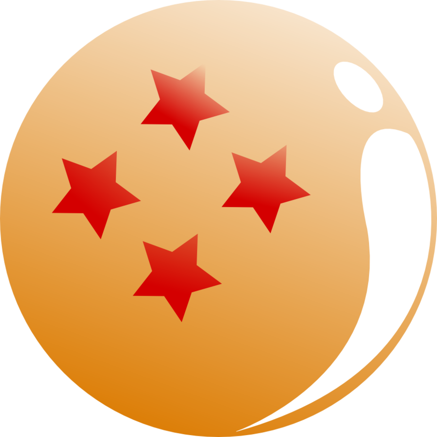 4 star dragonball png. Inkscape practice by