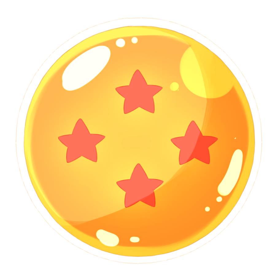 4 star dragonball png. By pikaponn on