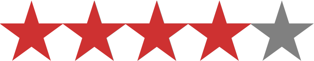 Download hd star rating. 4 stars png vector black and white library