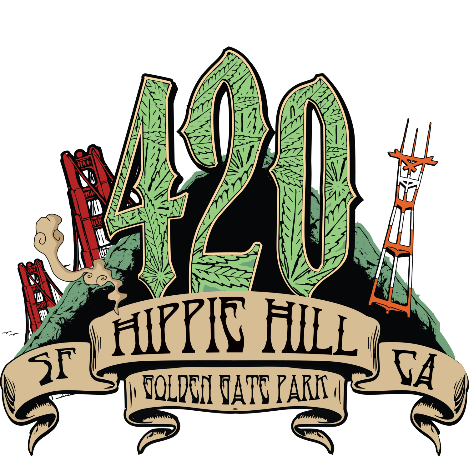420 transparent png. Hippie hill sf