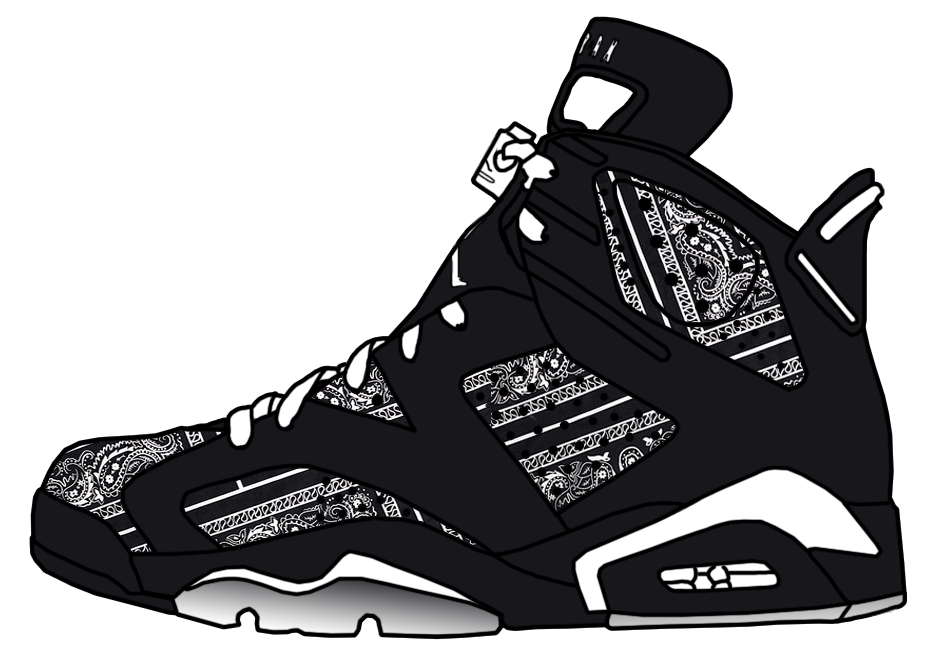 Drawing wizard bandana. Jordan retro vi black