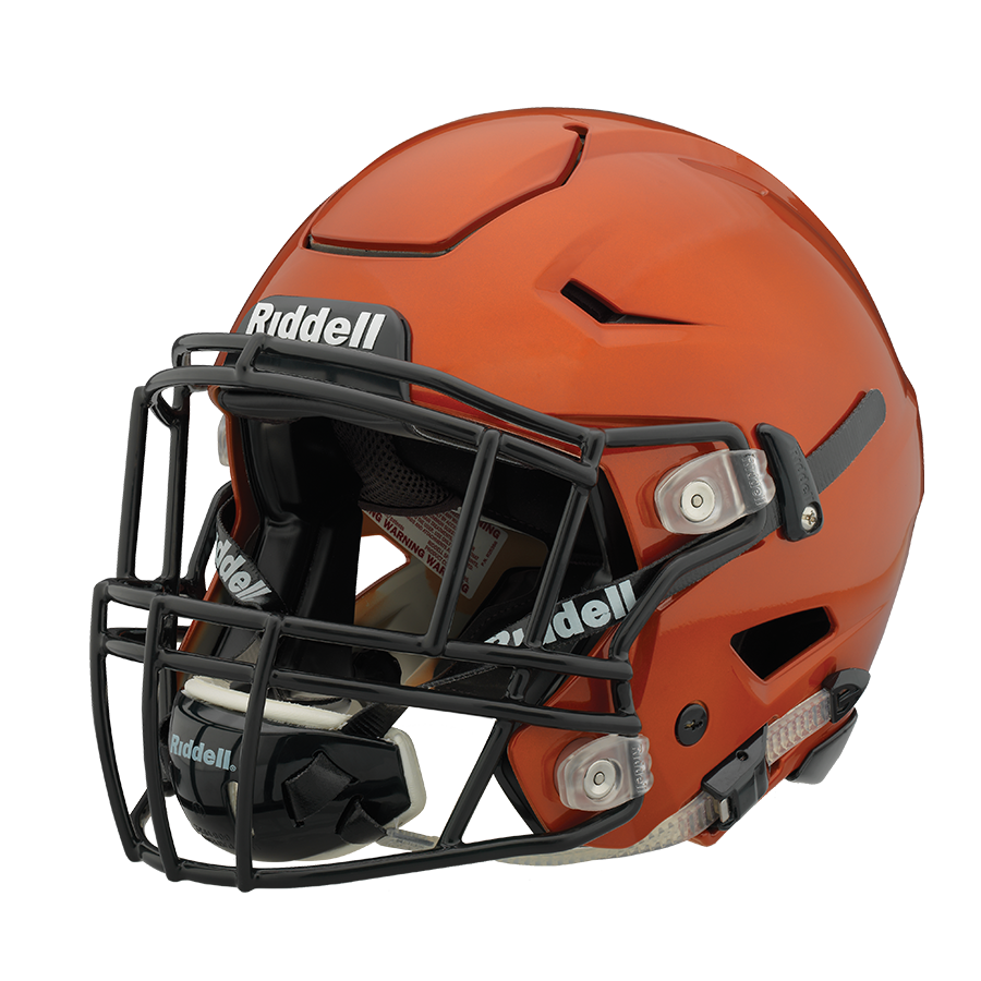 Athlete drawing helmet. Riddell speedflex