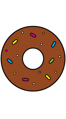 Donuts vector simple. How to draw a