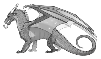 4d drawing creature. Tortoiseshell wings of fire