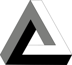 Cubes vector impossible. Penrose triangle wikipedia