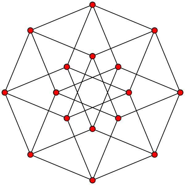 4d drawing geometric triangle. Four cube tesseract graph