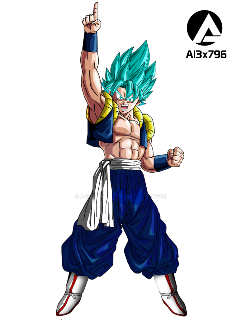 4d drawing person. Gogeta dragon ball movie