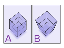 checkered drawing perception
