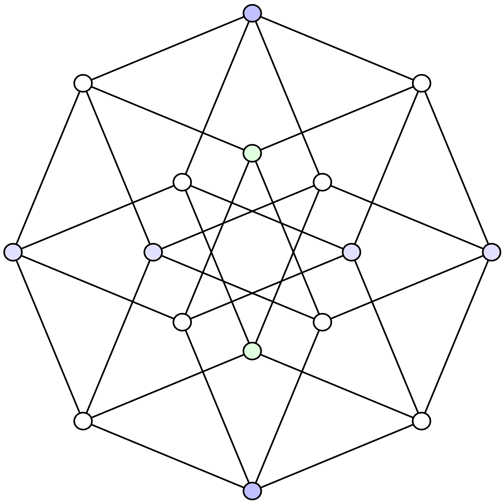 4d drawing perspective. Tesseract d projection of