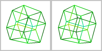 4d drawing three d. Tesseract wikipedia stereographic projection