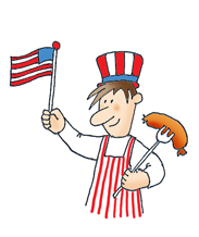 4th clipart fourth july food. Th of graphics