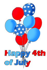 Fourth of clipart balloons. Th july