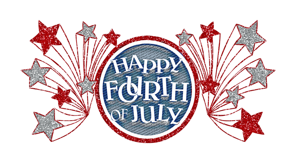 4th of july banner png. Happy fourth glitter transparent