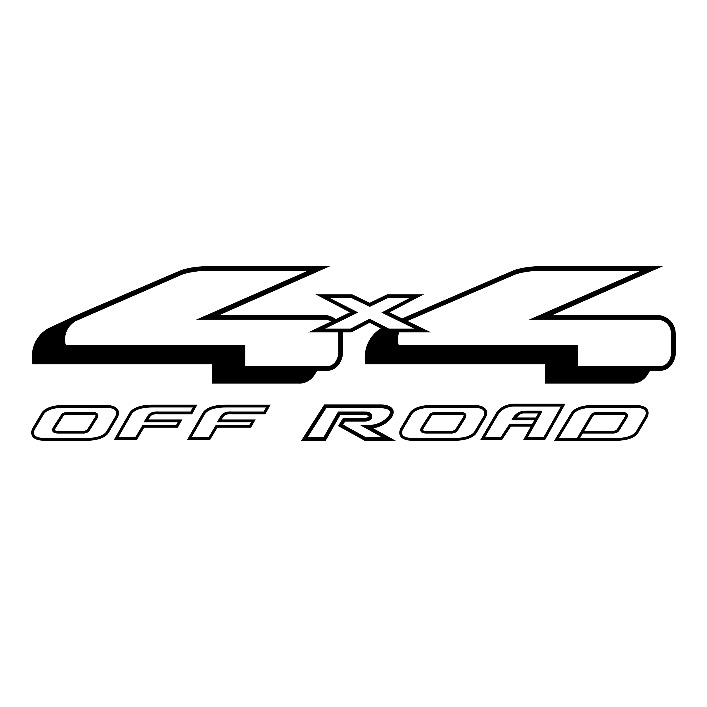 4x4 vector black and white. X off road