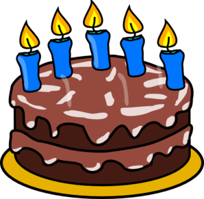 5 candle png. Birthday cake clipart