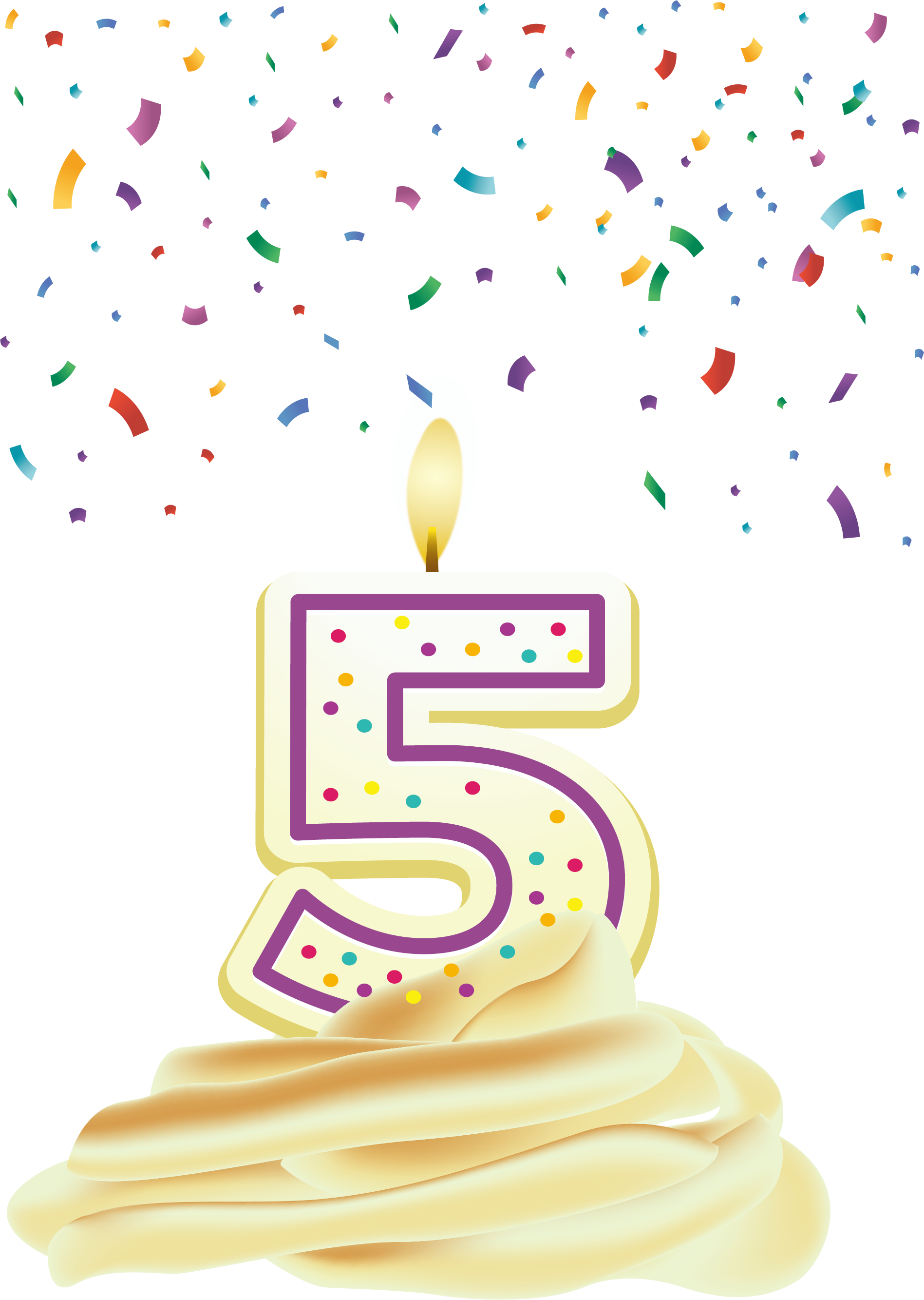 Number candles transprent free. 5 birthday candle png clip art transparent library