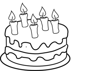 Download free bday cake. 5 candle png image transparent stock
